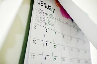 January Calendar Chs